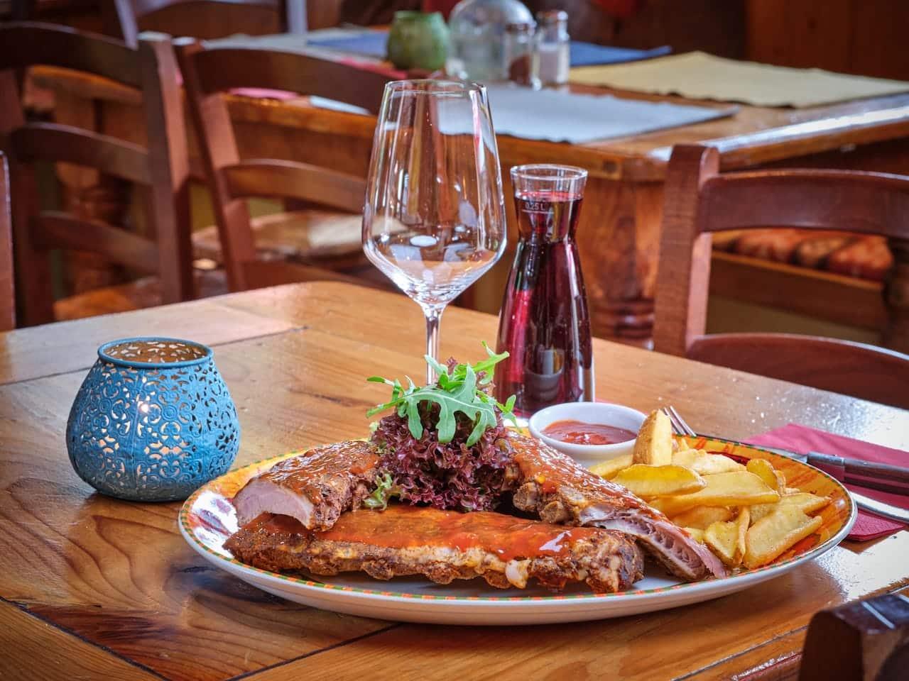 Spareribs - Fleischgerichte - El Puente – Mexikanisches Restaurant Oberammergau